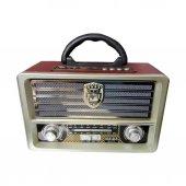 Meier M 113bt Nostaljik Retro Ahşap Bluetooth Fm Radyo