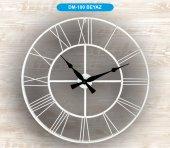 Galaxy Dm 100 Metal Kasa Duvar Saati 70 Cm Beyaz