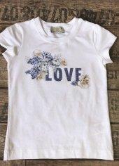 Edel Weiss 11398 Kız Çocuk Kelebekli Tshirt