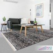 Siyah Gri Modern Halı Hs9513