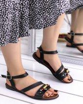 Tiara Siyah Cilt Sandalet