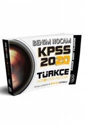 2020 KPSS Türkçe Video Ders Notları Benim Hocam Yayınları