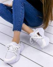Riley Beyaz Cilt Gümüş Aynalı Spor Ayakkabı
