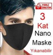 Nano Ağız Maskesi 3 Kat Air Teknoloji Su Geçirmez Yıkanabilir