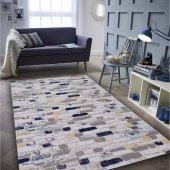 Yüksek Kalite Akrilik Mavi Taşlı Oturma Odası Salon Halısı 100x300