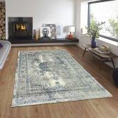 Balat Halı Klasik Mavi Göbekli Oturma Odası Ve Salon Halısı 120x180