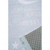 Happy Rugs Love You Moon Açık Mavi Çocuk Halısı 100x160