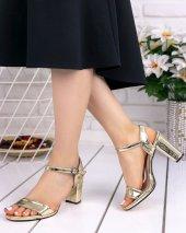 Tanya Altın Rugan Topuklu Ayakkabı-2