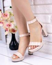 Narcissa Krem Cilt Desenli Platform Topuk Ayakkabı-2