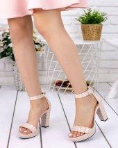 Narcissa Krem Cilt Desenli Platform Topuk Ayakkabı-3