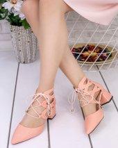 Lilla Pudra Cilt Topuklu Ayakkabı