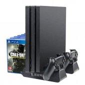 Dobe Sony PS4 Fanlı Şarj Stand Fat/Slim/Pro Uyumlu-3