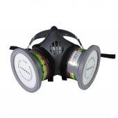 Maxsafety Yüz Maskesi Çift Filtreli Ön Korumalı Gaz Maskesi  Set2