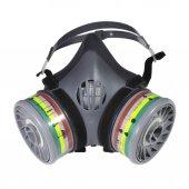 Maxsafety Yüz Maskesi Çift Filtreli Ön Korumalı Gaz Maskesi  Set2-2