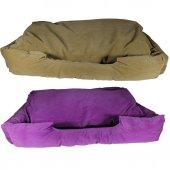 Kadife Metrelik Kedi Köpek Yatağı Yastıklı