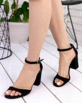 Billie Siyah Süet Topuklu Ayakkabı