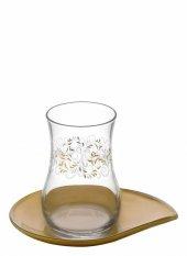 Lav Pera Çay Takımı 12 Parça Desenli Çay Seti