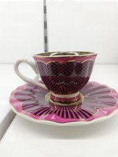 6 Kişilik Porselen Kahve Fincanı