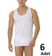 Zeynep Tekstil Erkek Atlet 6 Lı 100 Pamuklu Askılı Atlet