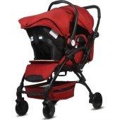 Babyhope BH-3076 Lavida Plus Travel Sistem Bebek Arabası Kırmızı
