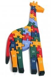 Zürafa Figürlü Ahşap Puzzle Yapboz