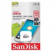 Sandisk Ultra 16 Gb Micro Sd Hafıza Kartı