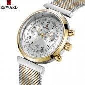 Reward Vıp Erkek kol saati Gümüş Kordon Takvim li Saat