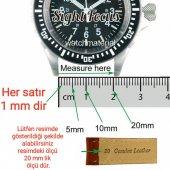Hakiki Deri Kordon 22 Mm Kahverengi Saat Kordon Saat Kayışı-2