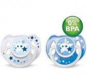 Philips Avent 0 BPA Yalancı Emzik 6-18 Ay Gece 2Li (Karanlıkta Parlar)