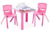 çocuk Masa Sandalye Takımı Pembe Prenses H50 2s...