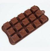 Silikon Zarf Çikolata Kalıbı (1253) Delikli