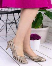 Shirley Gold Cilt Topuklu Ayakkabı