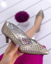 Shirley Gold Cilt Topuklu Ayakkabı-2