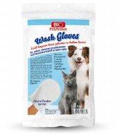 Bio Petactive Wash Gloves 8 Adet Evcil Hayvanlar İçin Kuru Yıkama