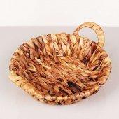 Kalın Örgülü Hasır Ekmek Sepeti 28289