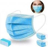 50 Adet 3 Katlı Burun Telli Ultrasonik Mavi Cerrahi Maske