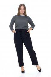 Büyük Beden Beli Lastikli Aerobin Kumaş Pantolon
