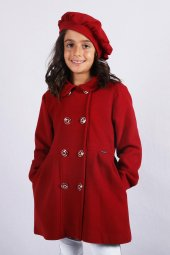 Milan Çocuk Club 711 Yaş Kız Çocuk Mont Kaşe Kaban 2 Farklı Renk