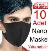 10 Adet Nano Ağız Maskesi 3 Kat Air Teknoloji Su Geçirmez