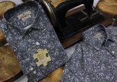 Kuyruklu Yıldız Vintage Füme Dpd056 Pamuklu Spor Erkek Gömlek