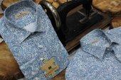 şal Retro Vintage Baskılı Mint Dpd057 Pamuklu Spor Erkek Gömlek