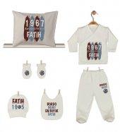 Pia Baby GL 1962-06 İsme Özel Taraftar Yastık Battaniye Zıbın Set-4