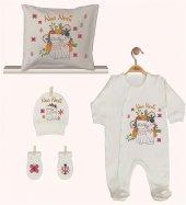 Pia Baby GL 1948-04 İsme Özel Yastık Tulum Set