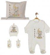 Pia Baby Gl 1911 04 İsme Özel Yastık Tulum Set