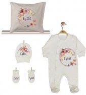 Pia Baby GL 1923-04 İsme Özel Yastık Tulum Set