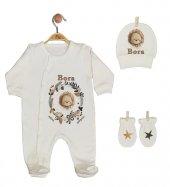 Pia Baby Gl 1909 01 İsme Özel Üçlü Tulum Set