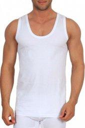 12li Seher Penye Askılı Erkek Atlet Beyaz