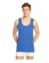 12li Seher Penye Askılı Erkek Atlet Saks Mavi
