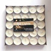 Tealight Ekru Mum 100 Lü Paket