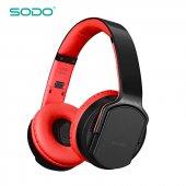 Sodo Mh2 Kablosuz Kulaklık Siyah Kırmızı